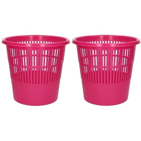 2x Roze Afvalbak Prullenmand 20 Liter Fun En Feest