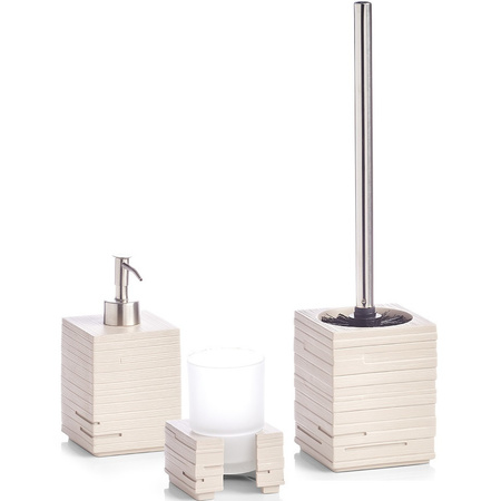 Witte Polyresin Badkamer Toilet Accessoires 3 Delige Set Bestellen Shoppartners Nl